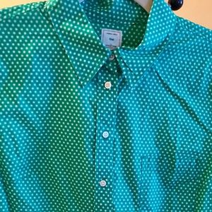 NWOT GAP Kelly Green Button Down